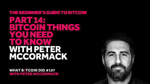 Part 14: Bitcoin Things You Need to Know with Peter McCormack