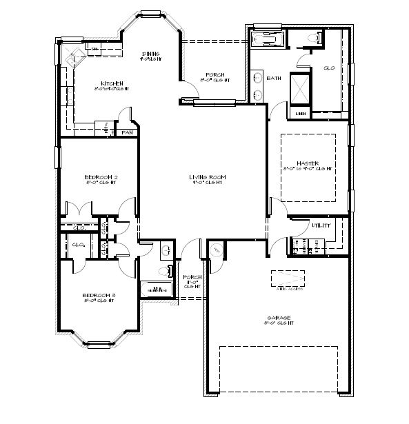 Specifications - 1,685 Sq Ft3 Bed / 2 Bath