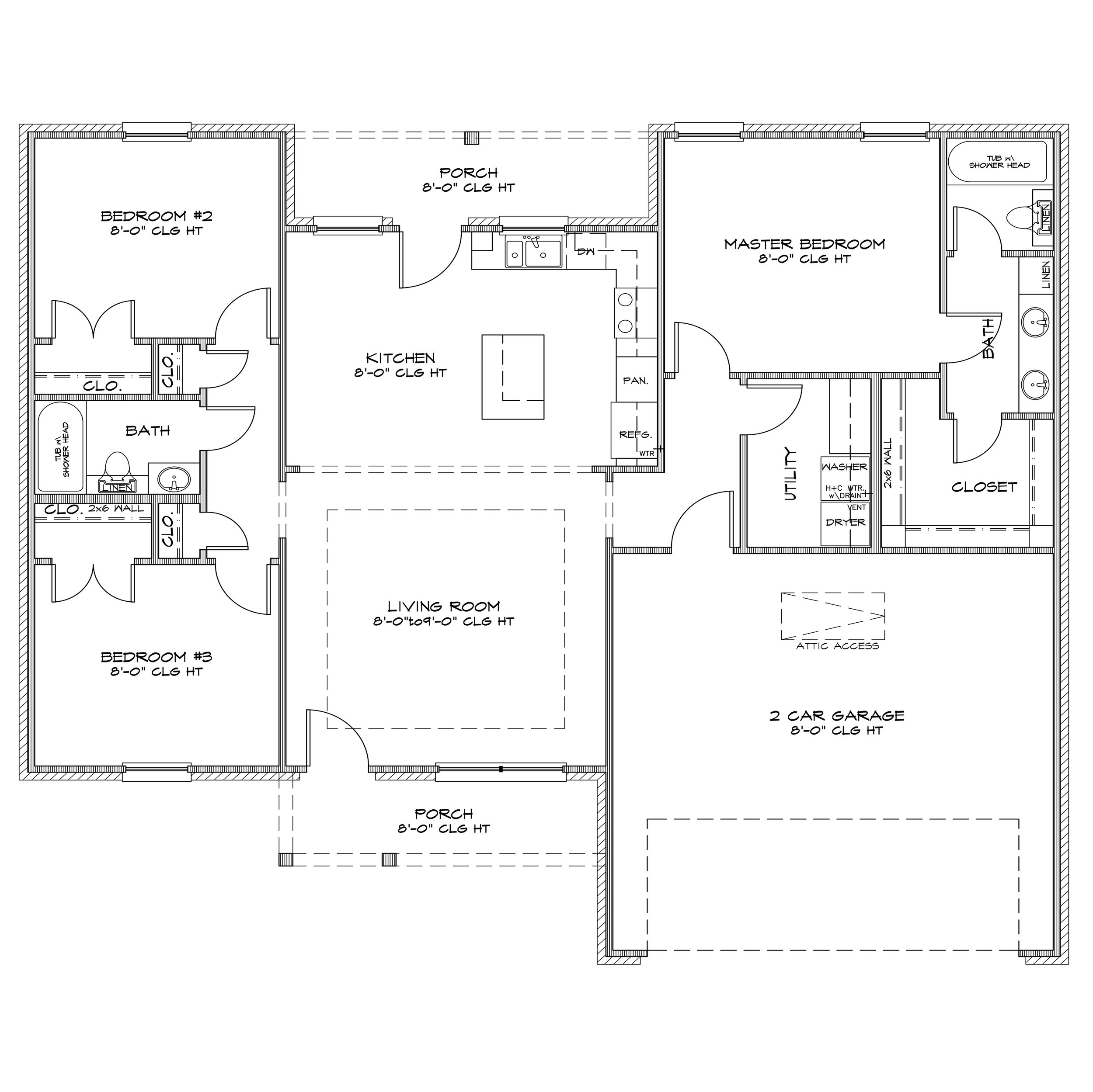Specifications - 1,426 Sq Ft3 Bed / 2 Bath