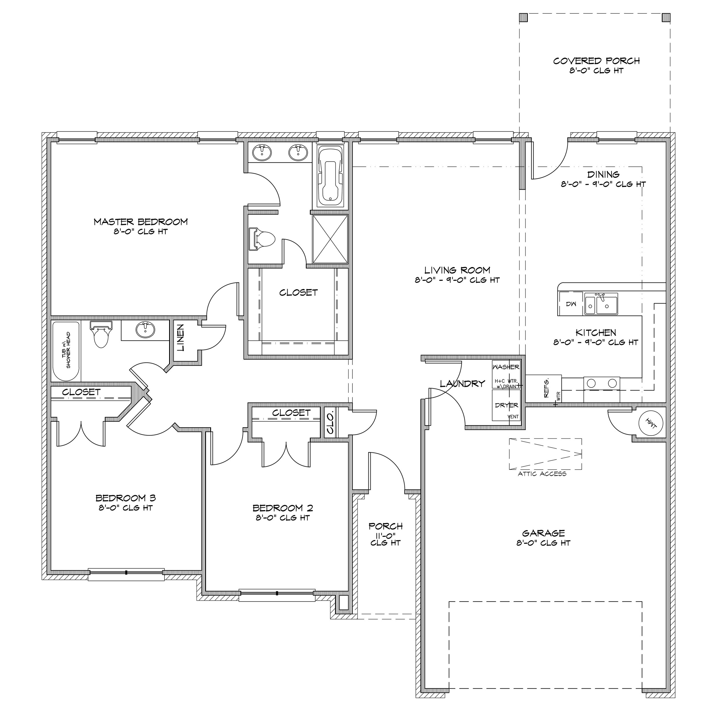 Specifications - 1,602 Sq Ft3 Bed / 2 Bath