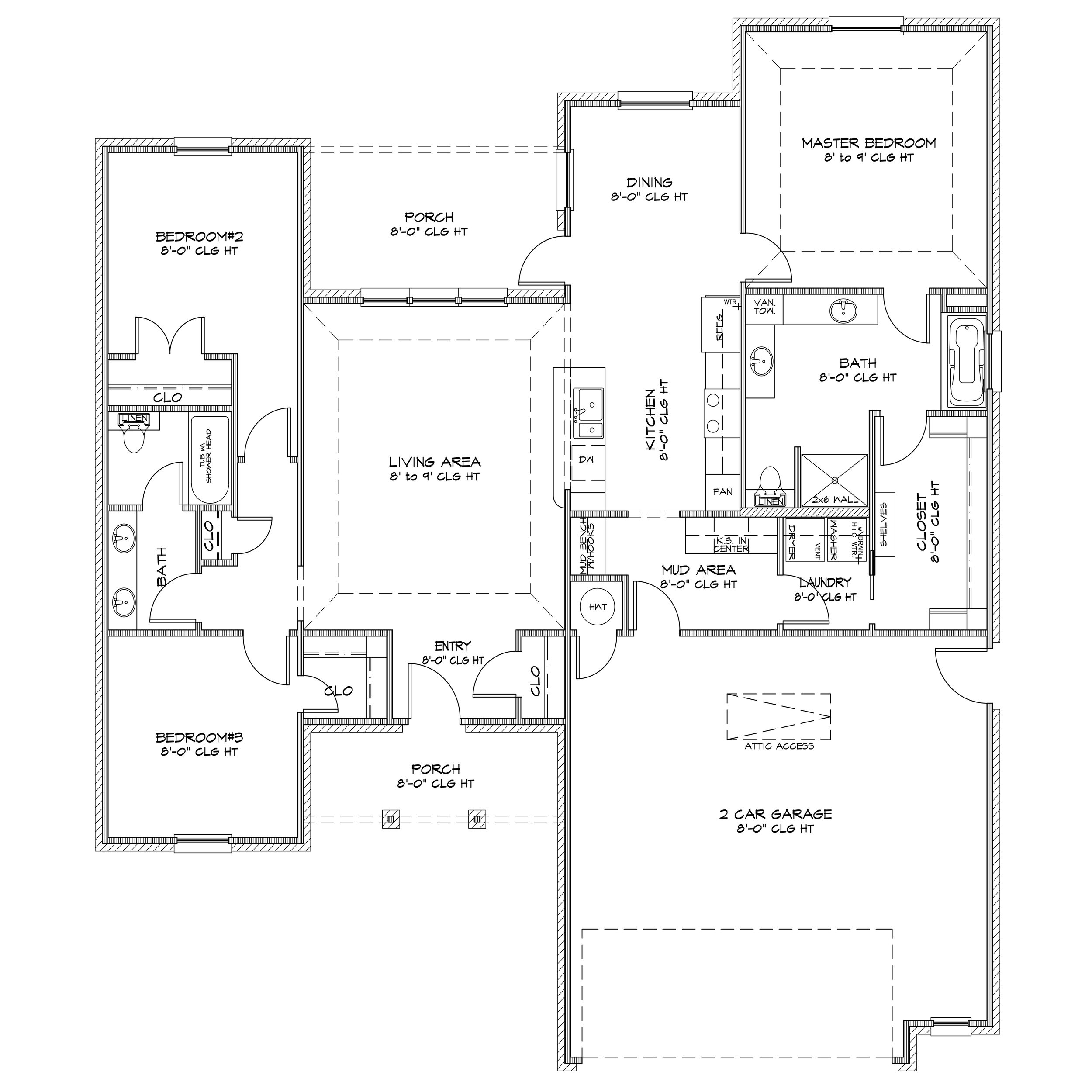 Specifications - 1577 Sq Ft3 Bed / 2 Bath