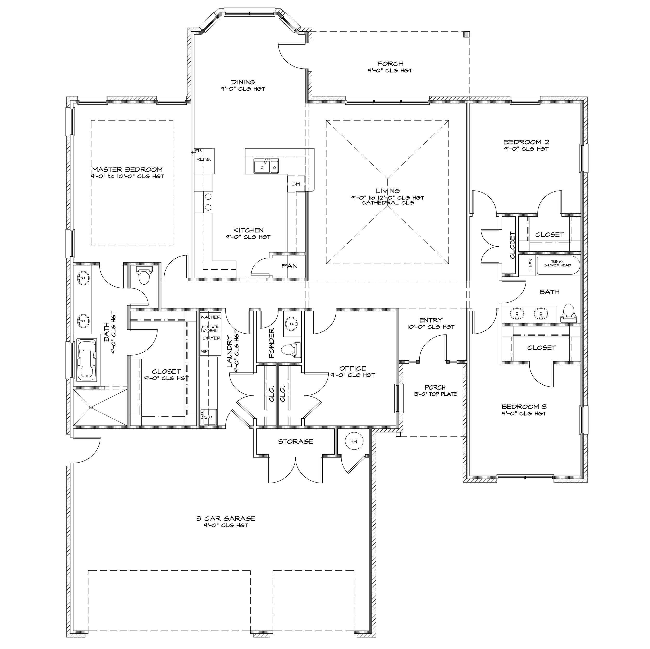 Specifications - 2,400 Sq Ft4 Bed / 2 Bath