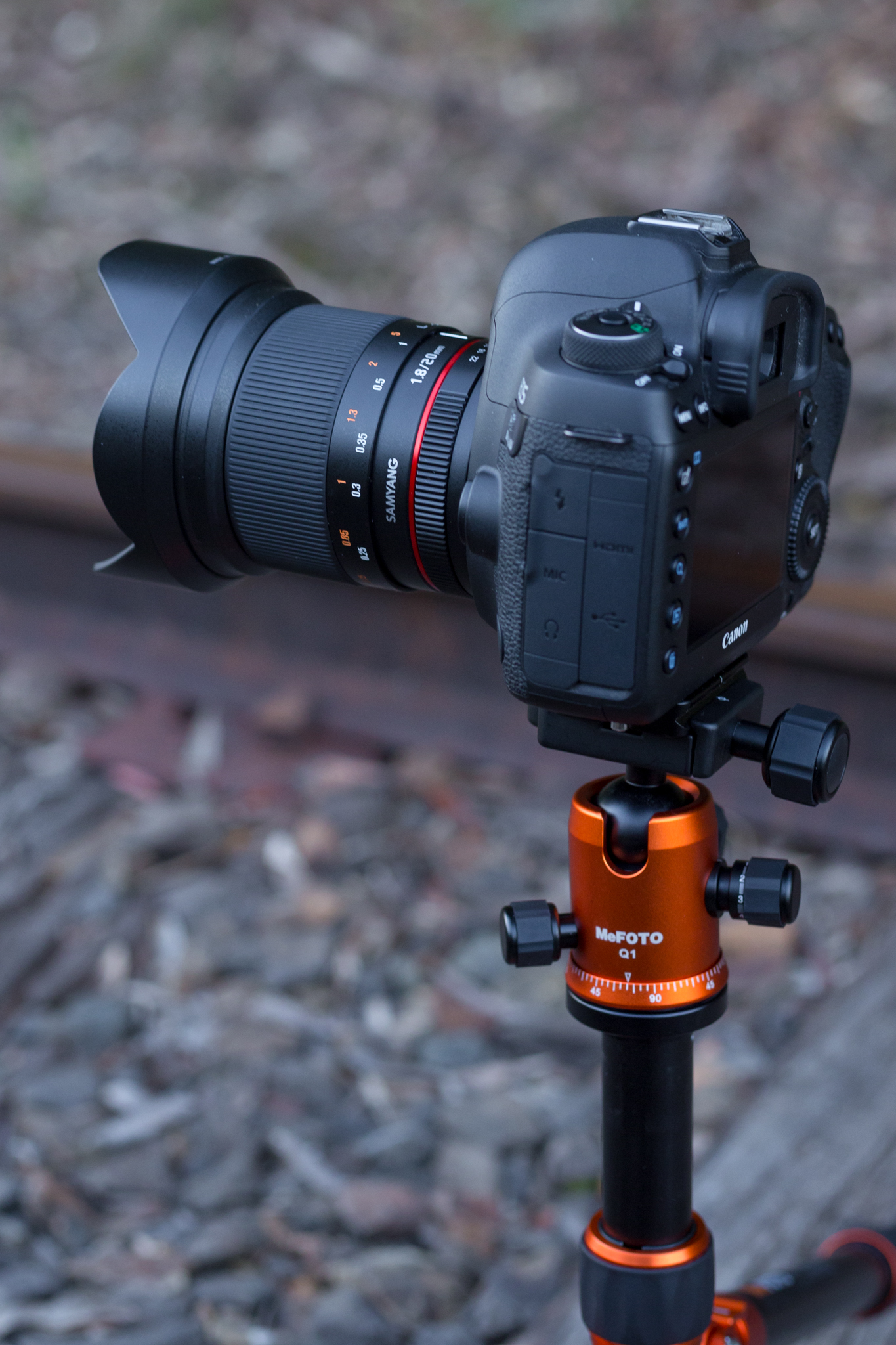 Out catching a sunset then some astro on an old train line. MeFOTO RoadTrip with Canon 5D MK IV and Samyang 20mm f/1.8 lens.
