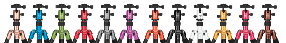 Check out the great colour range for the RoadTrip Tripod in Aluminium.