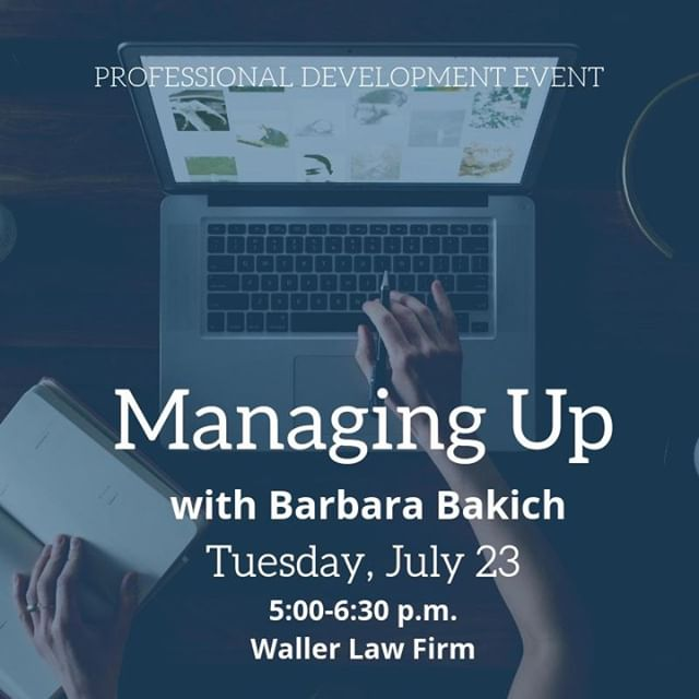 Learn tangible strategies for managing up with Barbara Bakich of Blackberry AtHoc this Tuesday. Free for members, $8 for non-members. Hit the #LinkInProfile to register. See you there! #YPGNash #ProfessionalDevelopment #Nashville