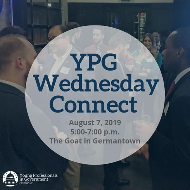 This Wednesday! Meet fellow local, state & federal government professionals at our next YPG Connect - Happy Hour event at the Goat in Germantown. You can learn more & tell us we'll see you there by tapping the #LinkInBio.  #YPGNash #Connect #Networking #HappyHour #Nashville