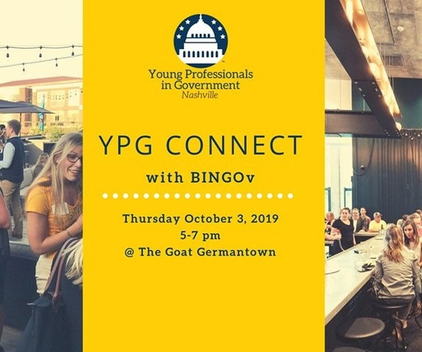 Come hang out with YPG, enjoy a fun activity and connect with the future of government at our next Happy Hour event at the Goat on October 3. Hit the #LinkInProfile to RSVP today!  #YPGNash #Connect #HappyHour #Government