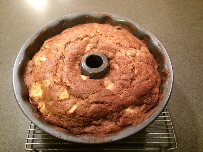 Somehow I neglected to take a photo after flipping it out of the pan. Bundt cakes always seem to look fancy to me.