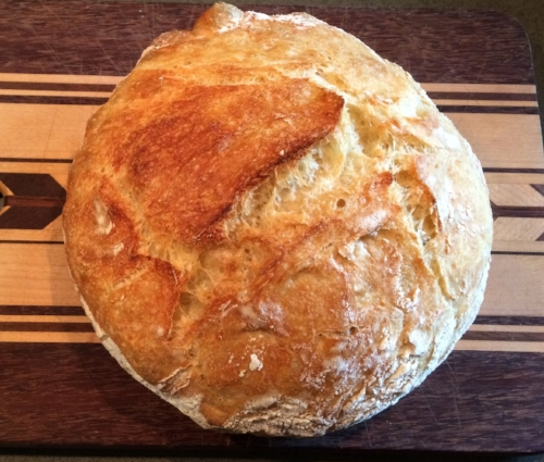 An all white flour version of the no knead