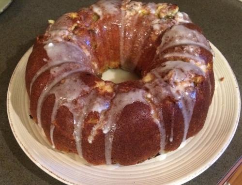 Lemon Buttermilk Rhubarb Bundt Cake... this picture makes it look a bit dowdy, but it's heavenly.