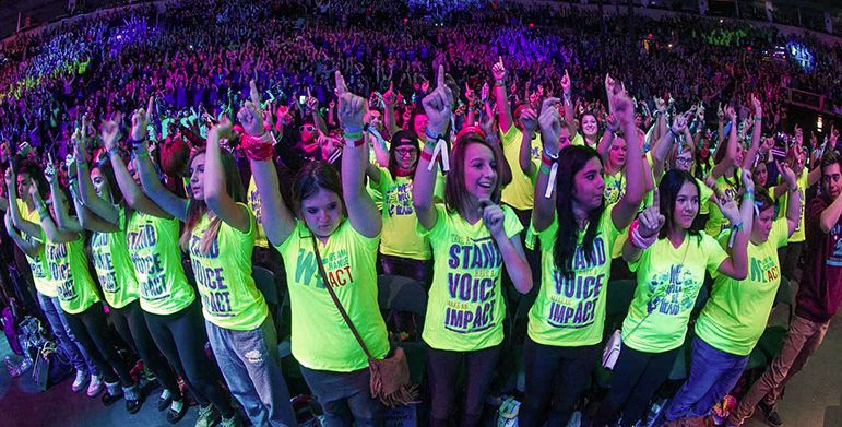 *Nicole presented to 18,000+ kids at WE Day
