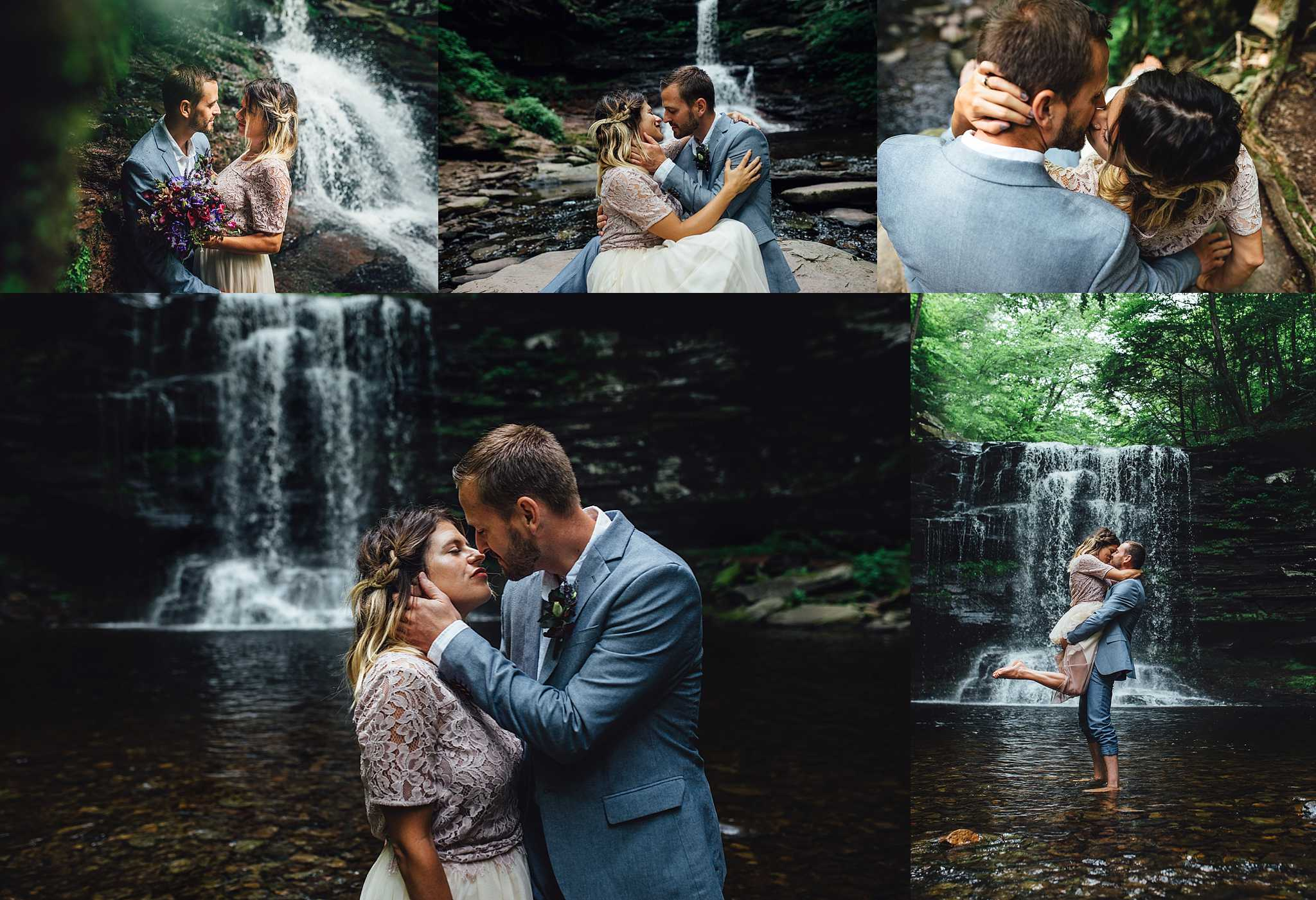 Whether you want to elope in the woods, celebrate many years together, or even explore for a family session, I'd love to adventure to Ricketts Glen with you!