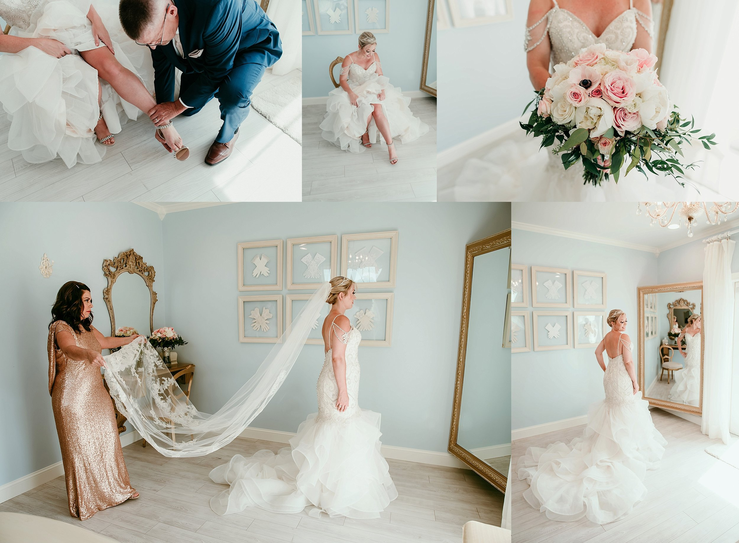 Let's take a second to appreciate this gorgeous dress and veil from my personal favorite bridal boutique:  Exclusively You
