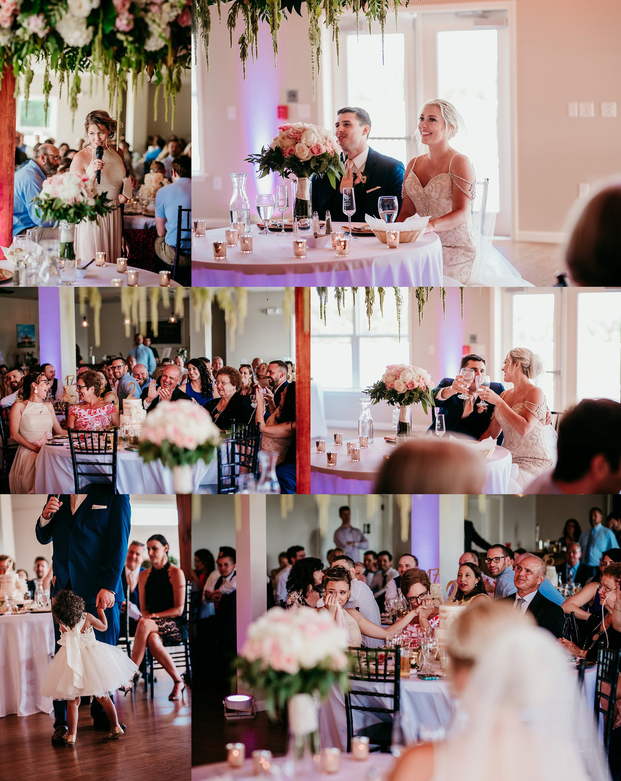 So much emotion in the room. It's clear how loved this sweet couple is. <3