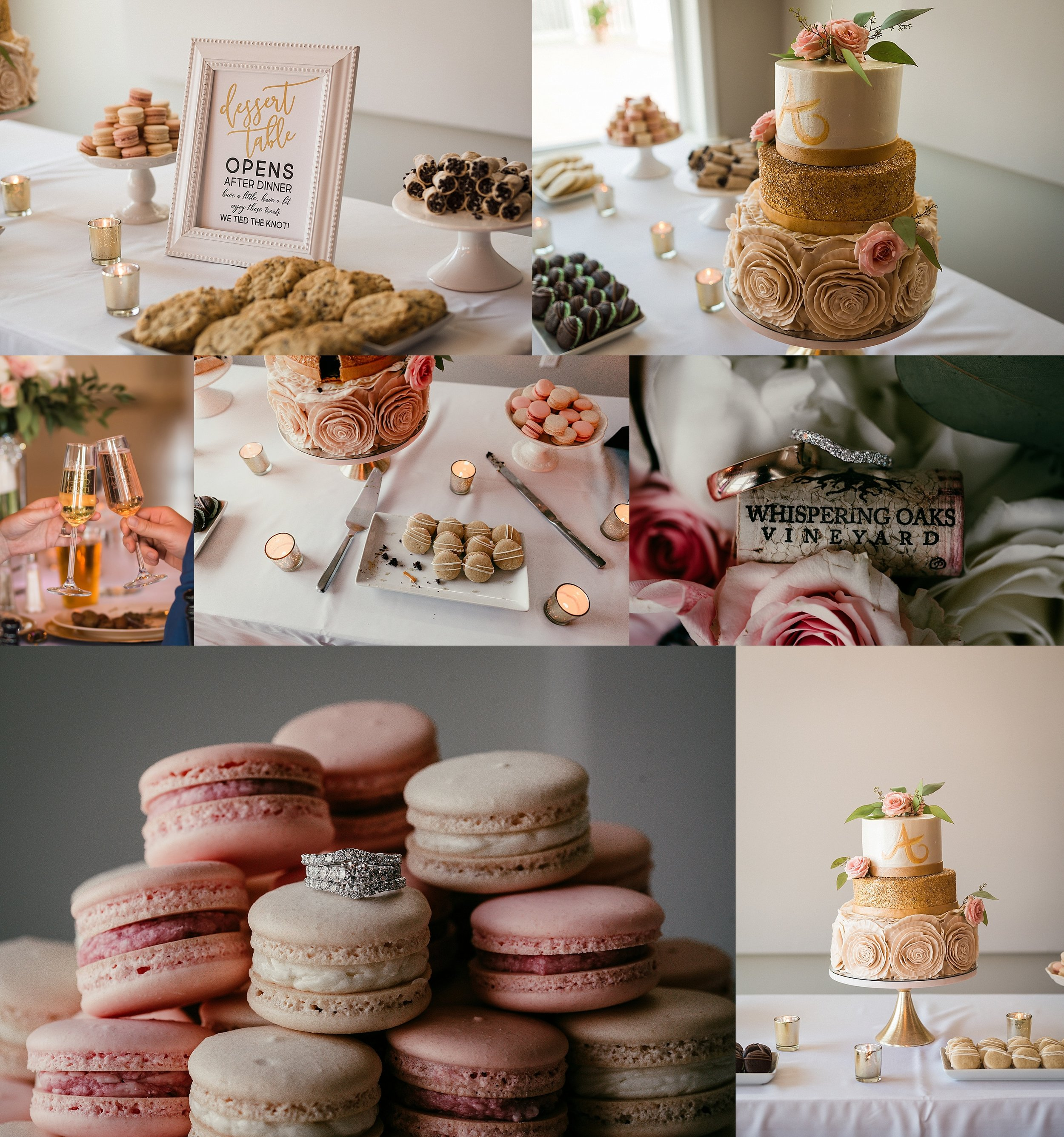 So many gorgeous, delicious cakes! Every table had its own custom cake and each were so detailed. I can get down with this trend. :-P  Cakes by:  Gable House Bakery