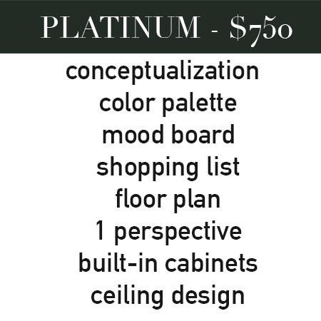 PLATINUM ROOM DESIGN