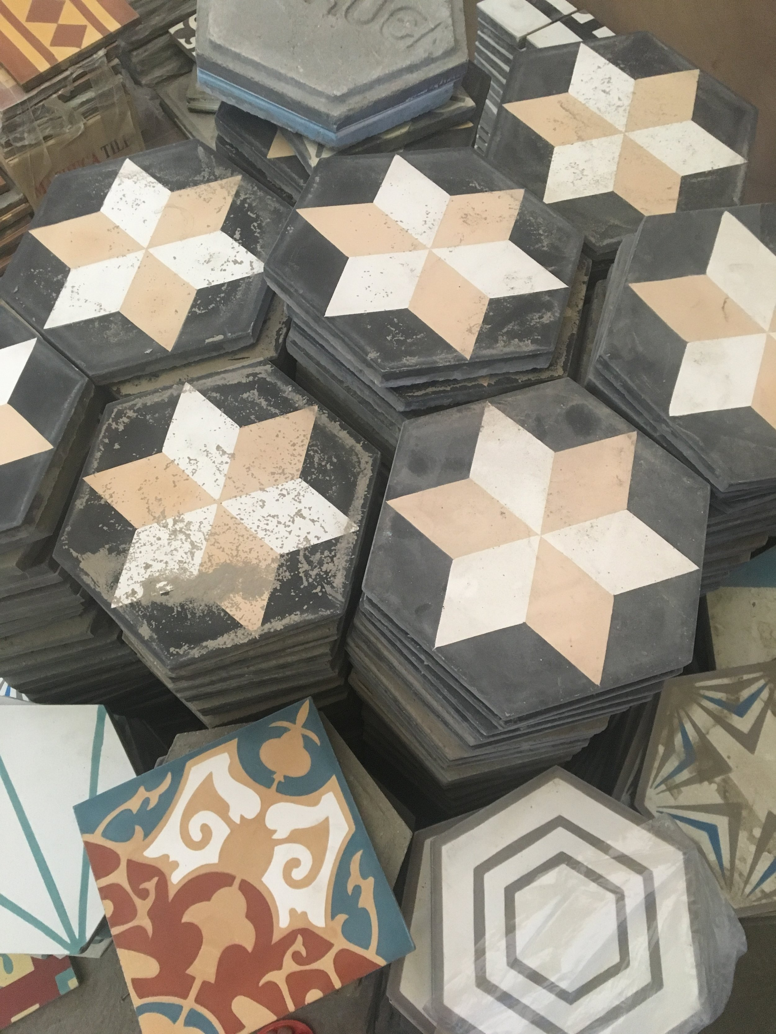 Hexagon Machuca Cement tile