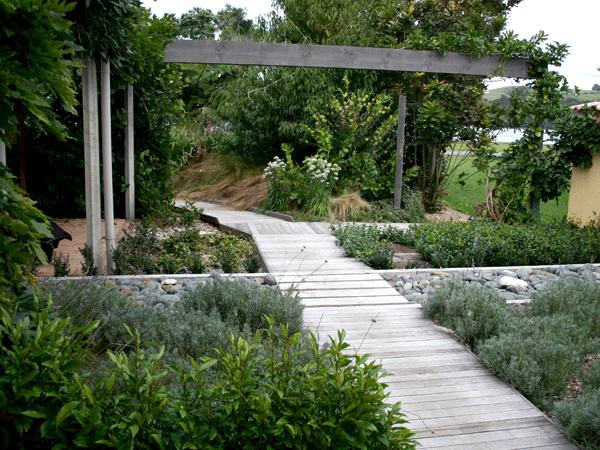Path, Pergola & Water Feature