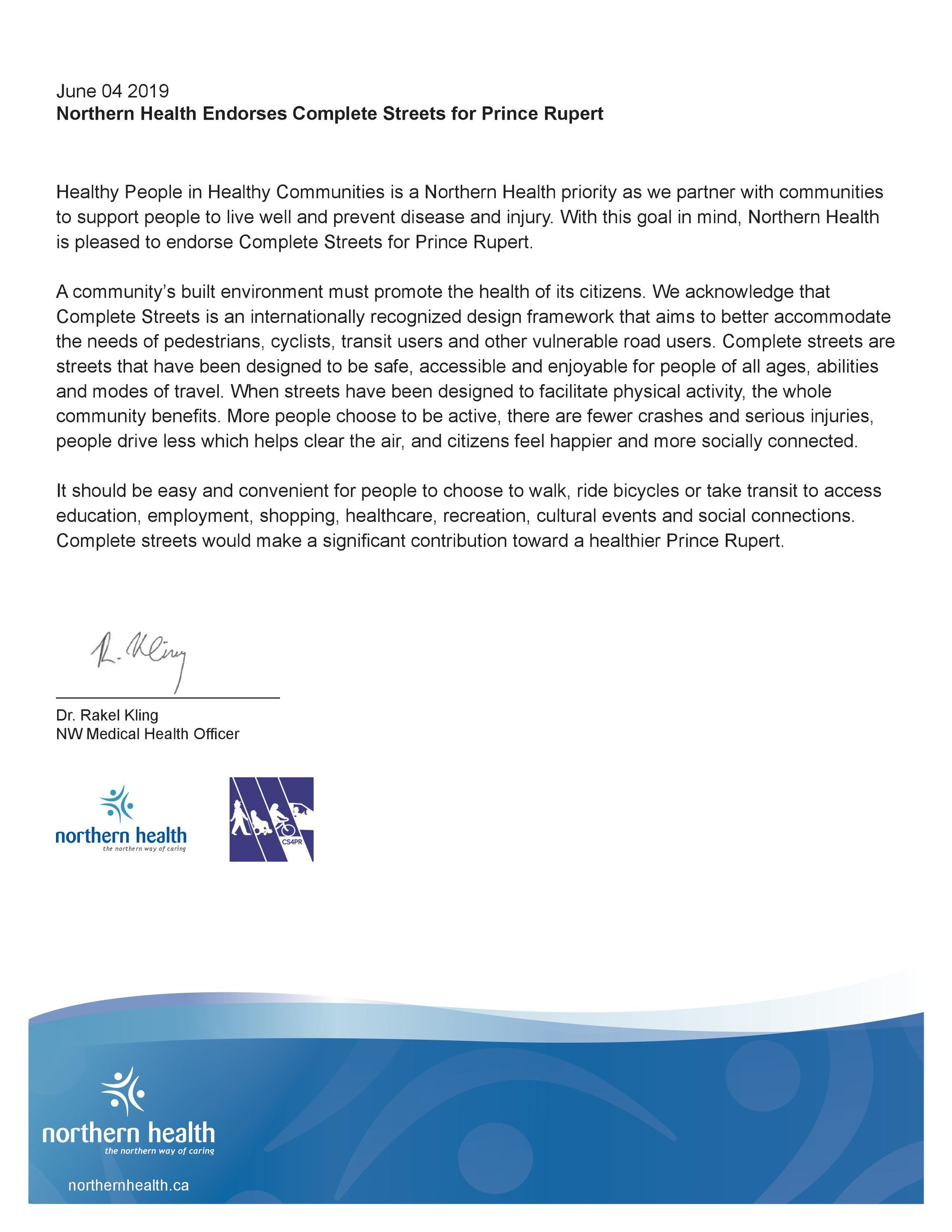 Northern Health Complete Streets Endorsement.jpg
