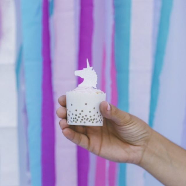 But guys, seriously, look at this cake topper. We love unicorns almost as much as we love throwing stellar parties! #unicorn