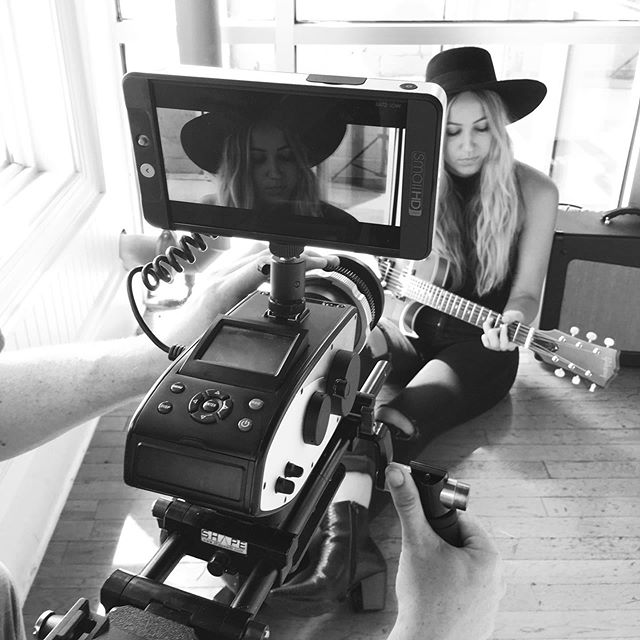 Still and video shoot at the studio today 🎸