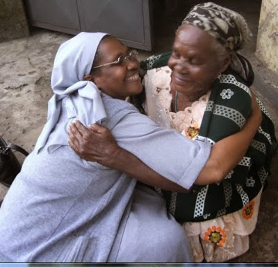 Sister Rovina with her mother