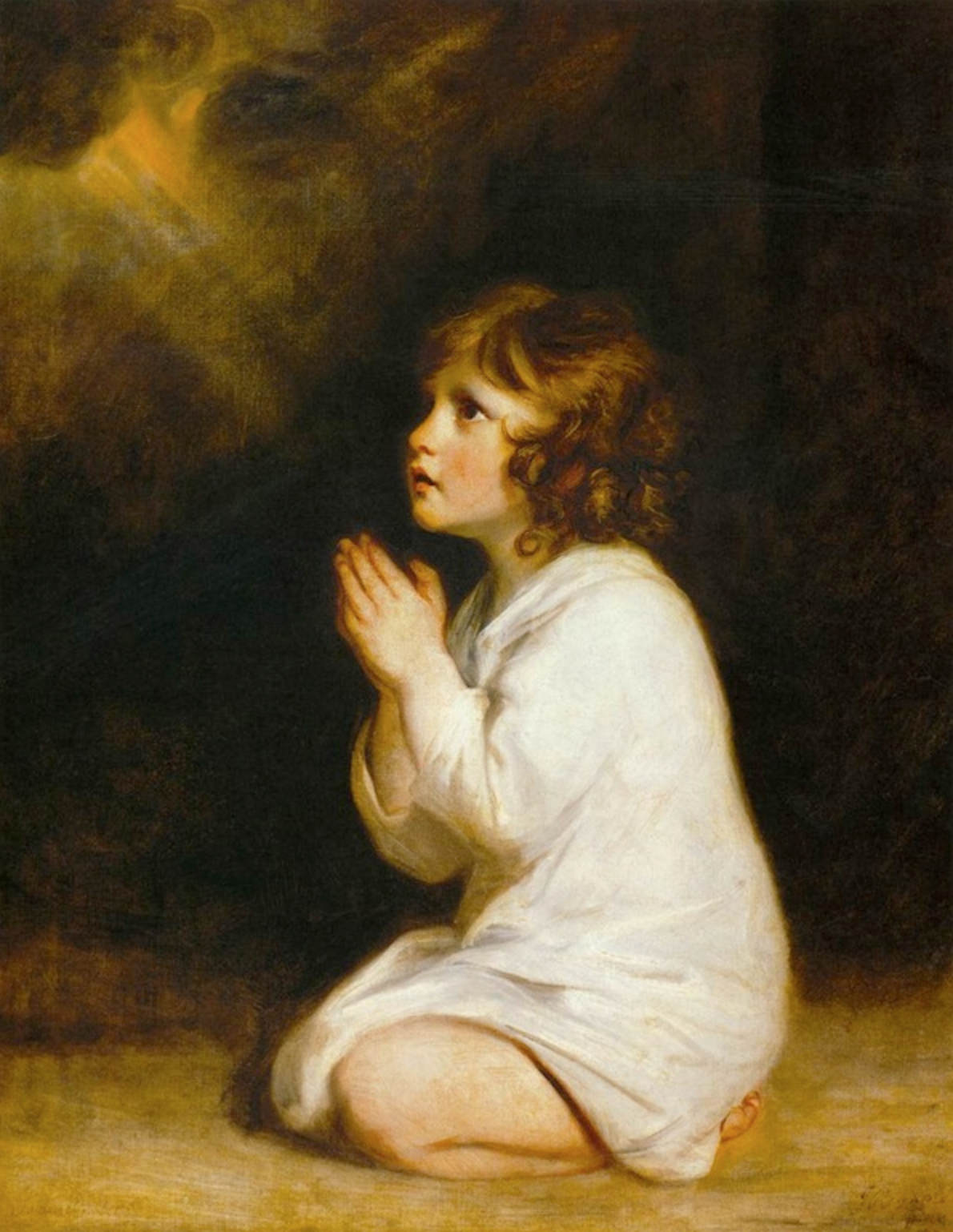 the infant samuel by  joshua reynolds