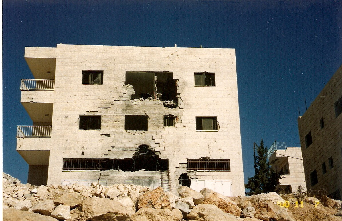 House in Beit Sahour, damaged by bombing