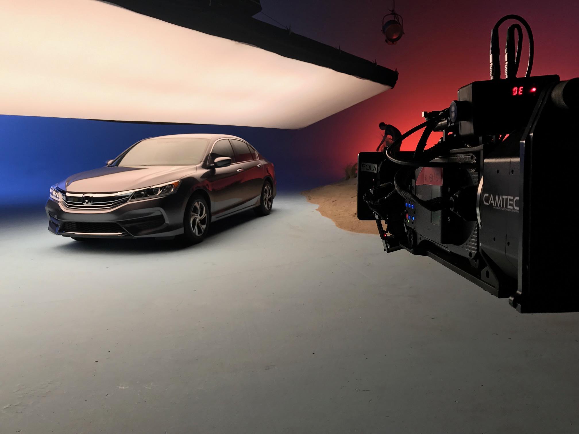 Camtec rig on set of a car commercial lensed by Richard Henkels
