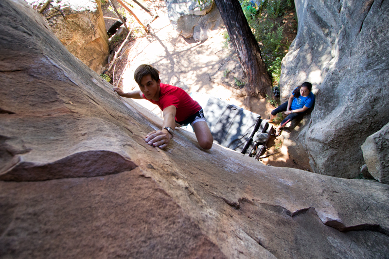 The JS Memorial Slab (V4), about as much fun as you can have on a slab eliminate.  Simon Madden