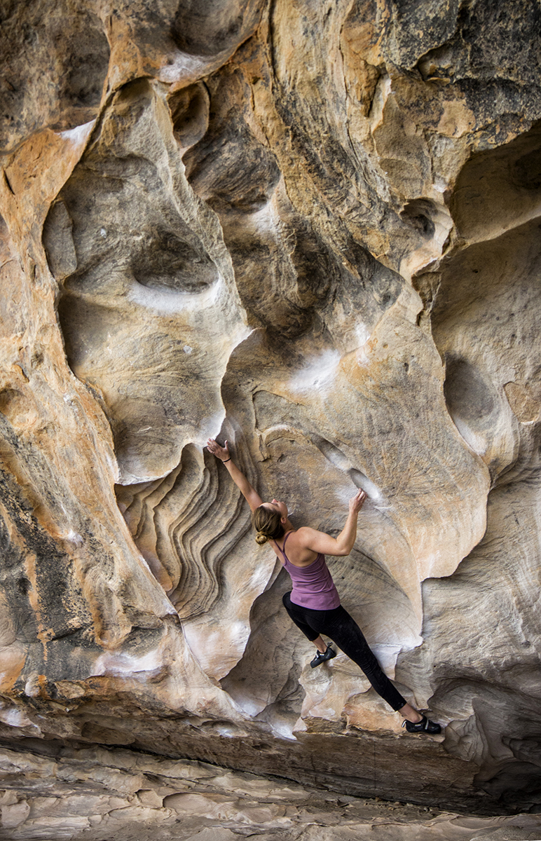 Amy on the Kindy classiqué – The Nevin rule (V7).