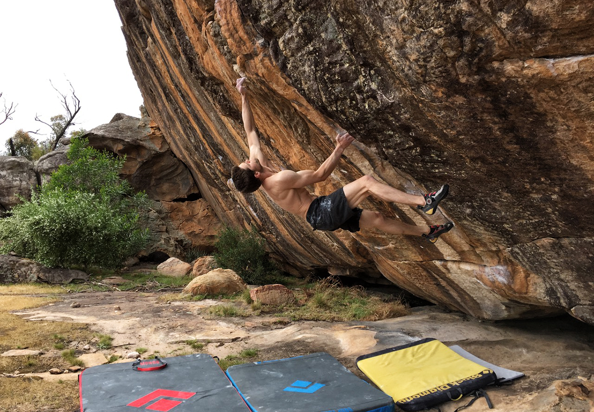 Man on Mana (V13).  Amanda Watts
