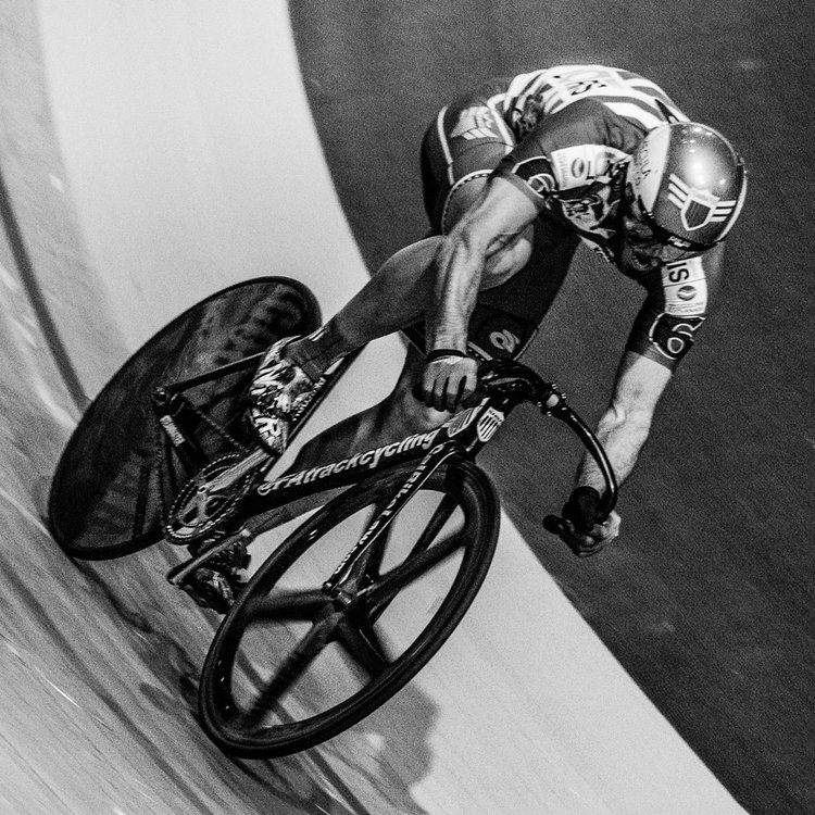 Within Nate's short time as a cyclist he has made his way onto the US National Track Cycling Team and alongside Kevin Mansker and Matt Baronouski holds the American Record in the Team Sprint.