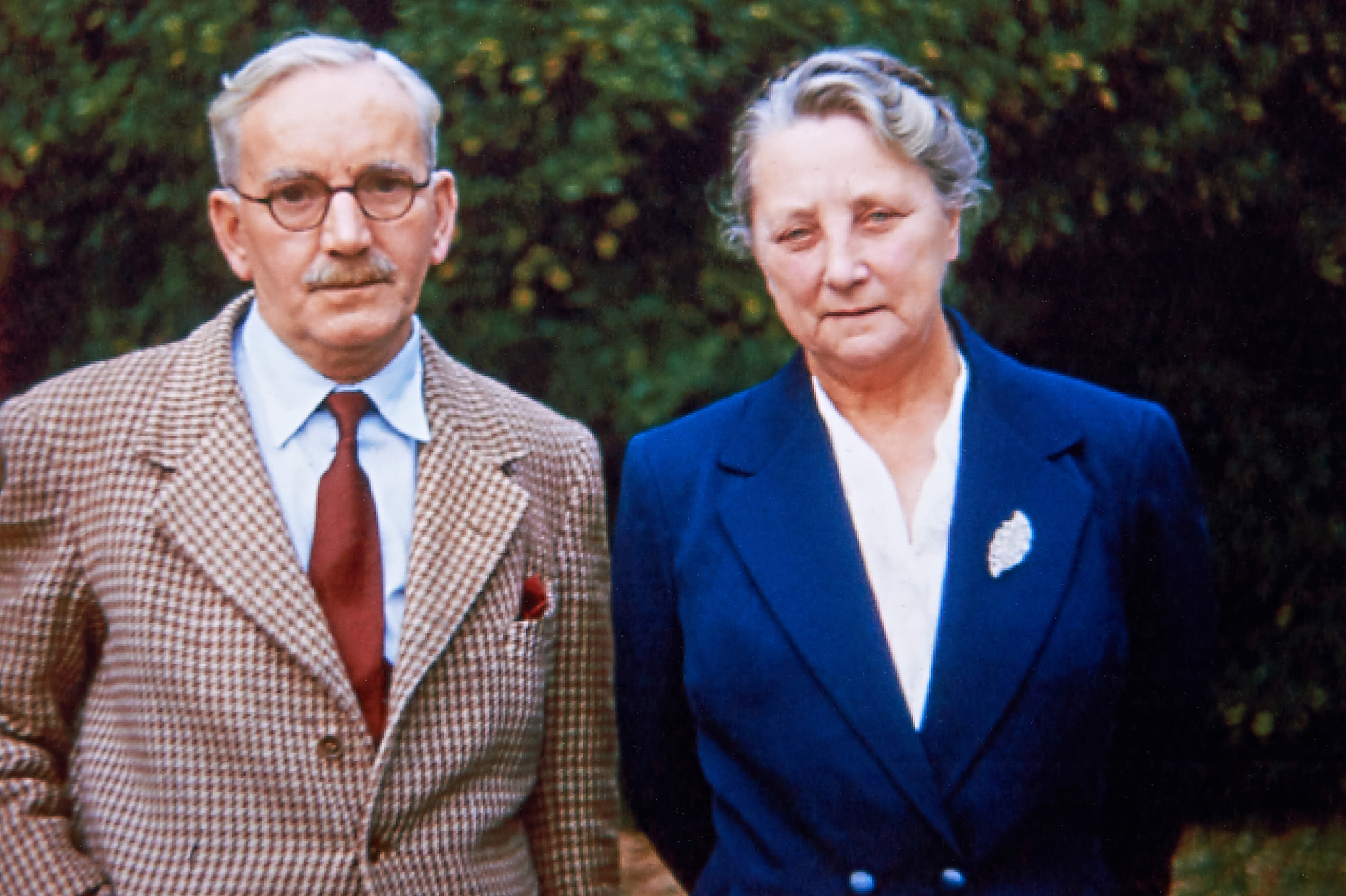 James Edward and Jessie Parkinson, the original owners of the school