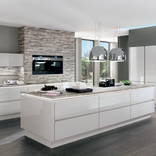 - Modern Nobilia Kitchen FurnitureOur German kitchens are authentic, well-built and reliable - but what is unique about them, is that they combine this practicality with stunning design and style. We can offer traditional looks or contemporary styles, depending on what you like. We can also offer a range of colours. The trend lately has been for natural tones and this suits many different sizes of kitchen as well as tastes, Read More…