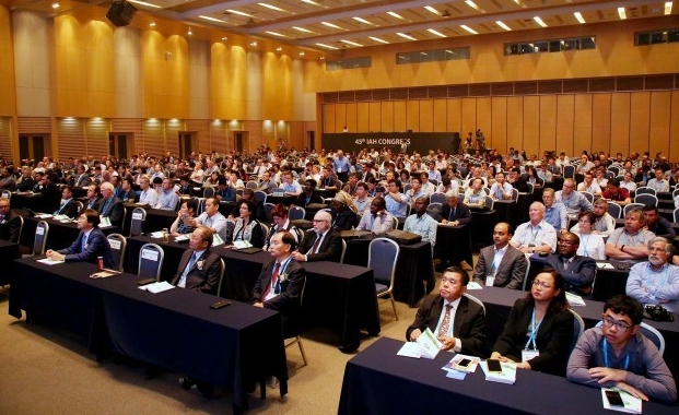 ATTENDEES AT THE 45TH INTERNATIONAL ASSOCIATION OF HYDROGEOLOGIST CONGRESS, SOUTH KOREA