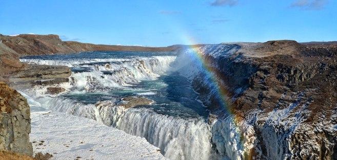 An incredible photo of Gullfoss Waterfall