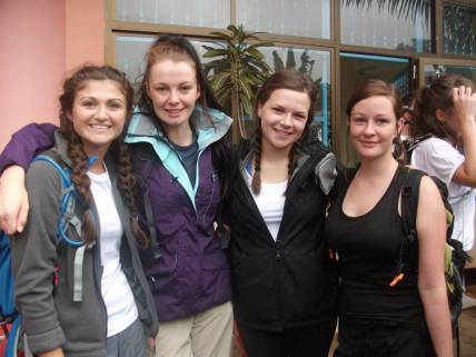 Waiting at our hotel before heading to Machame gate