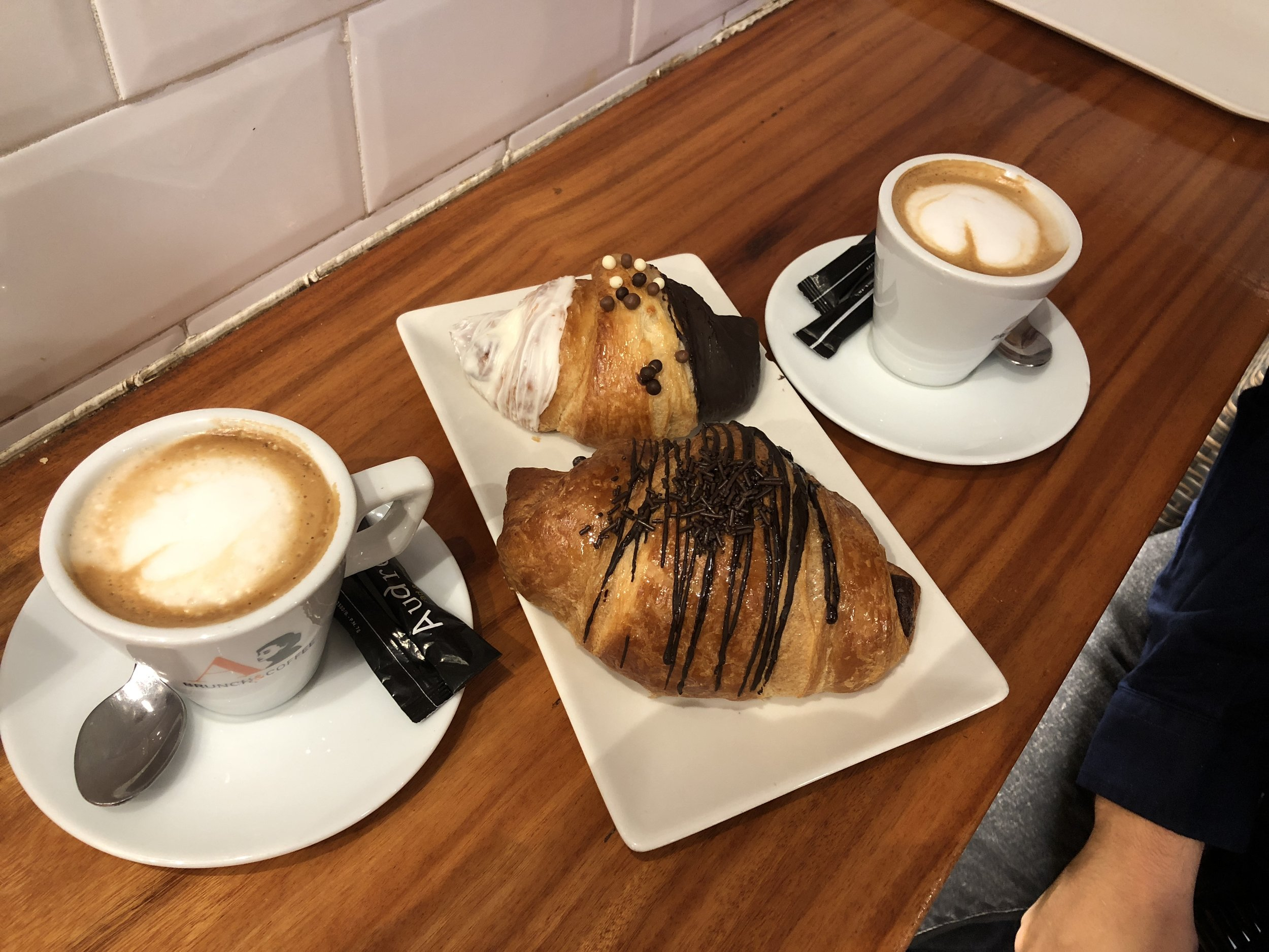 Breakfast at a local bakery