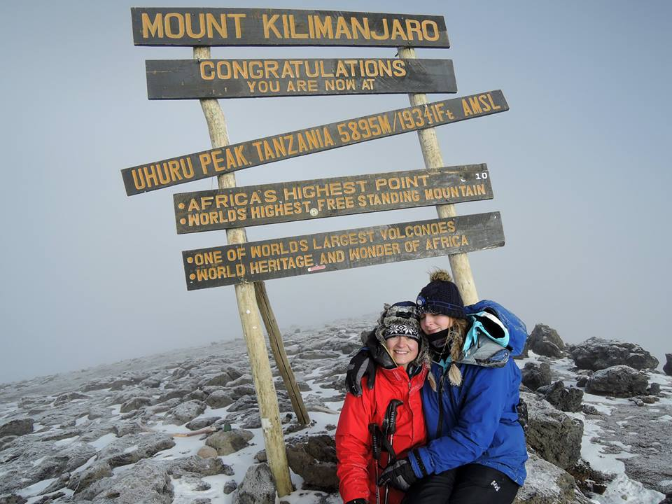 Emma at the summit of Kilimanjaro