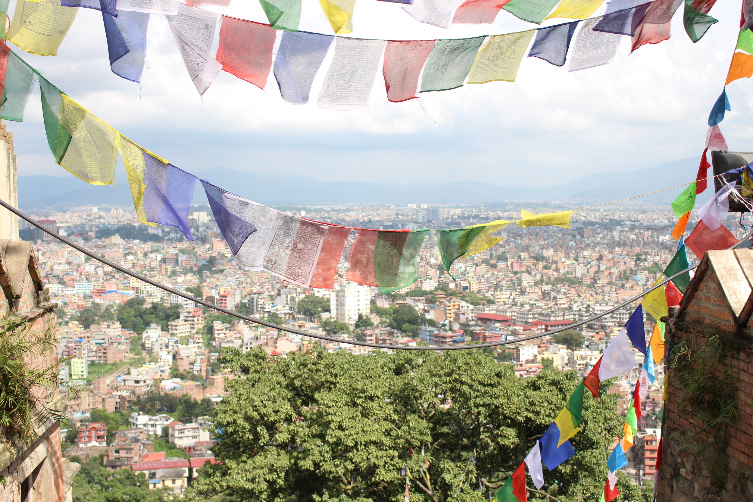 The view of Kathmandu from The Monkey Temple