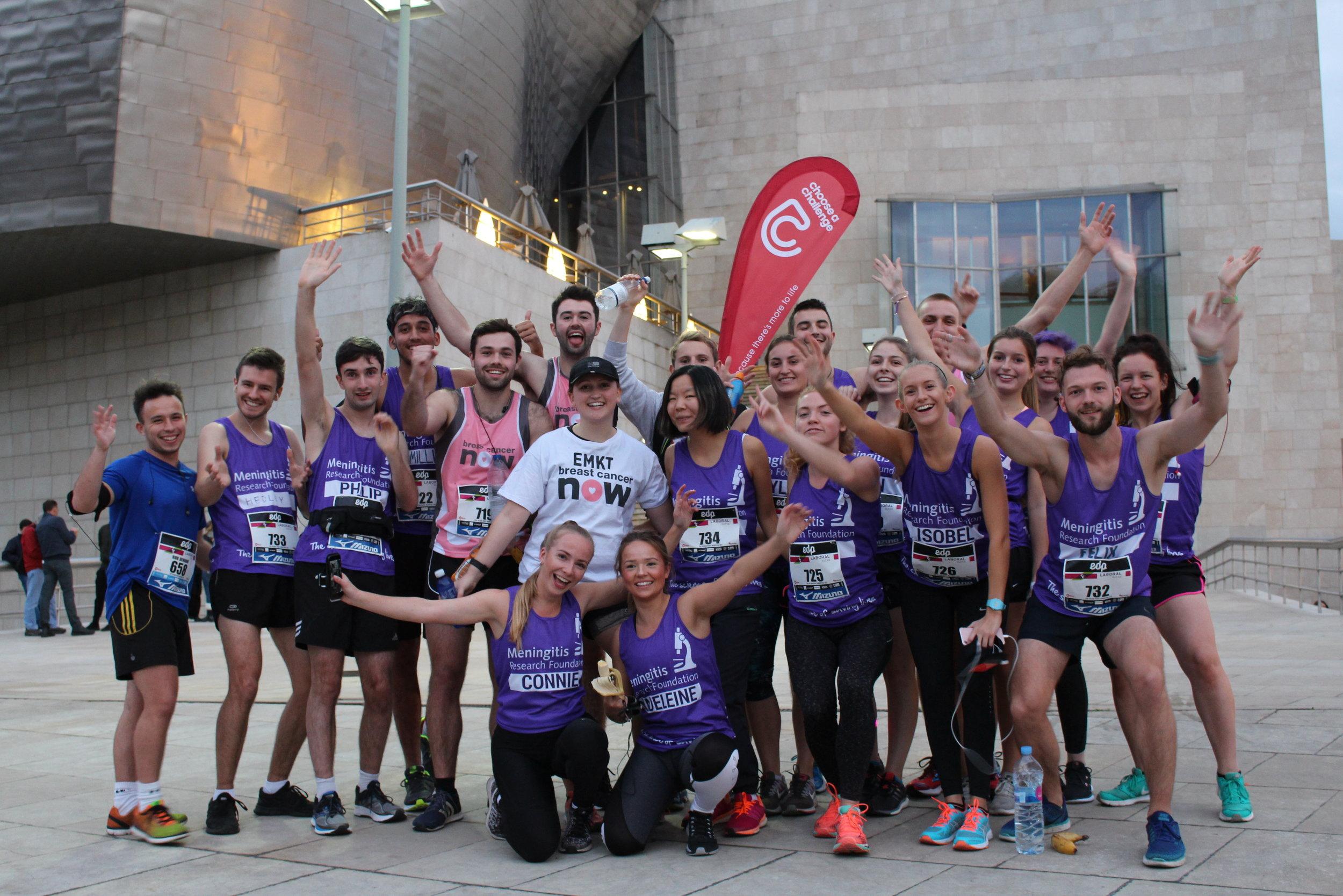 The 2017 Bilbao Night Marathon team