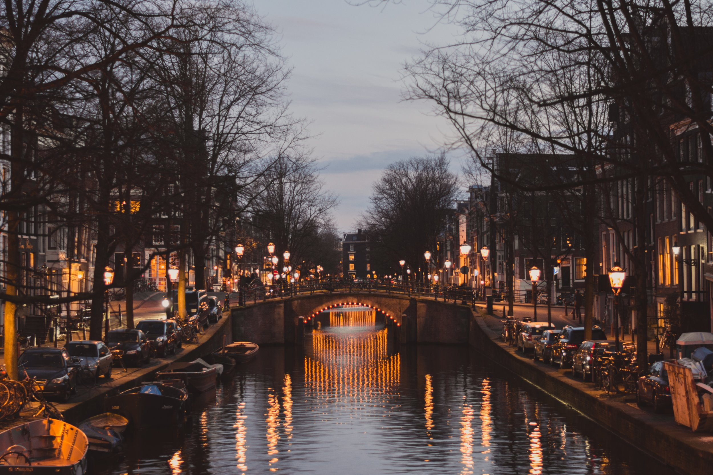 The canals of Amsterdam are incredible and seemingly endless…