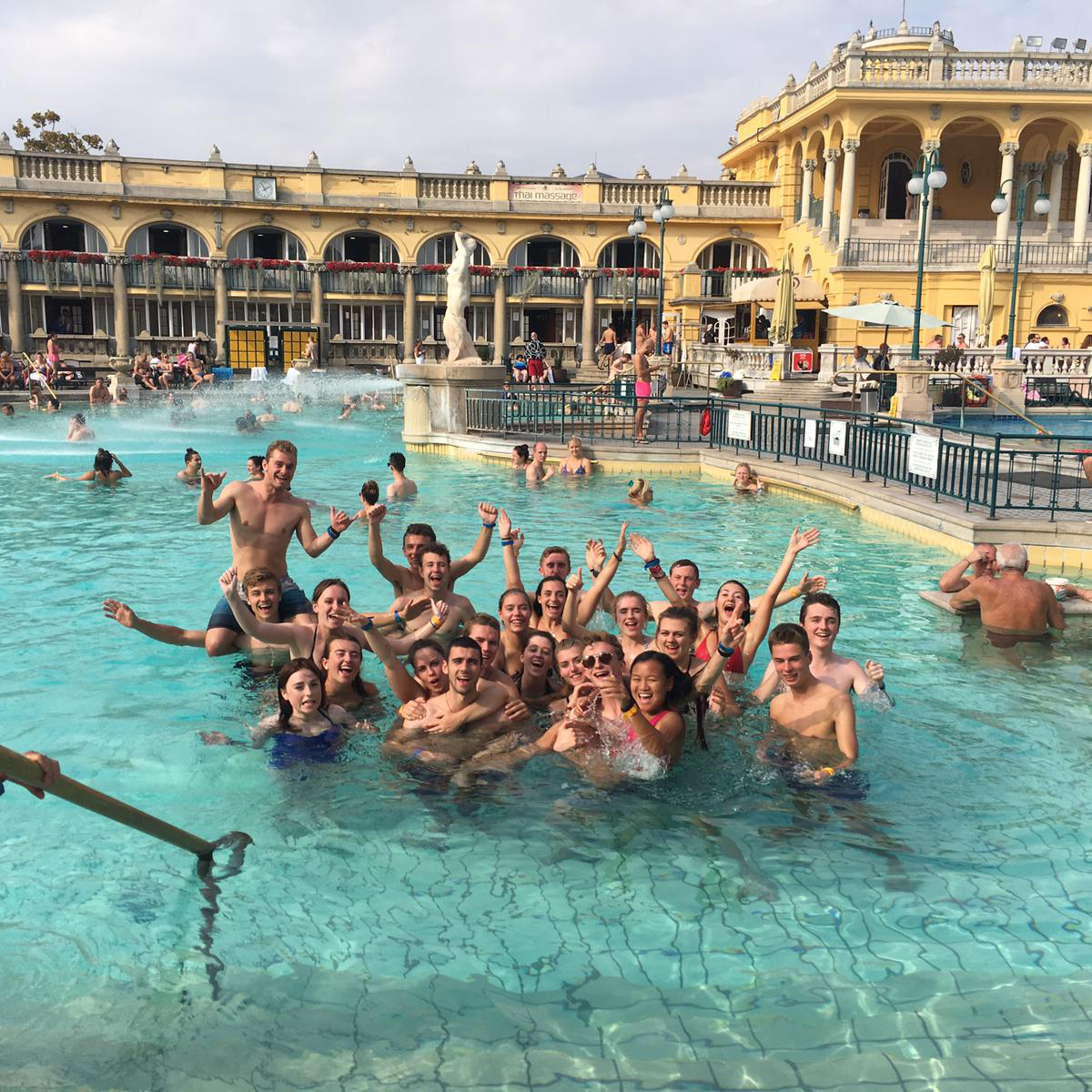 Post-Marathon relaxing in Budapest