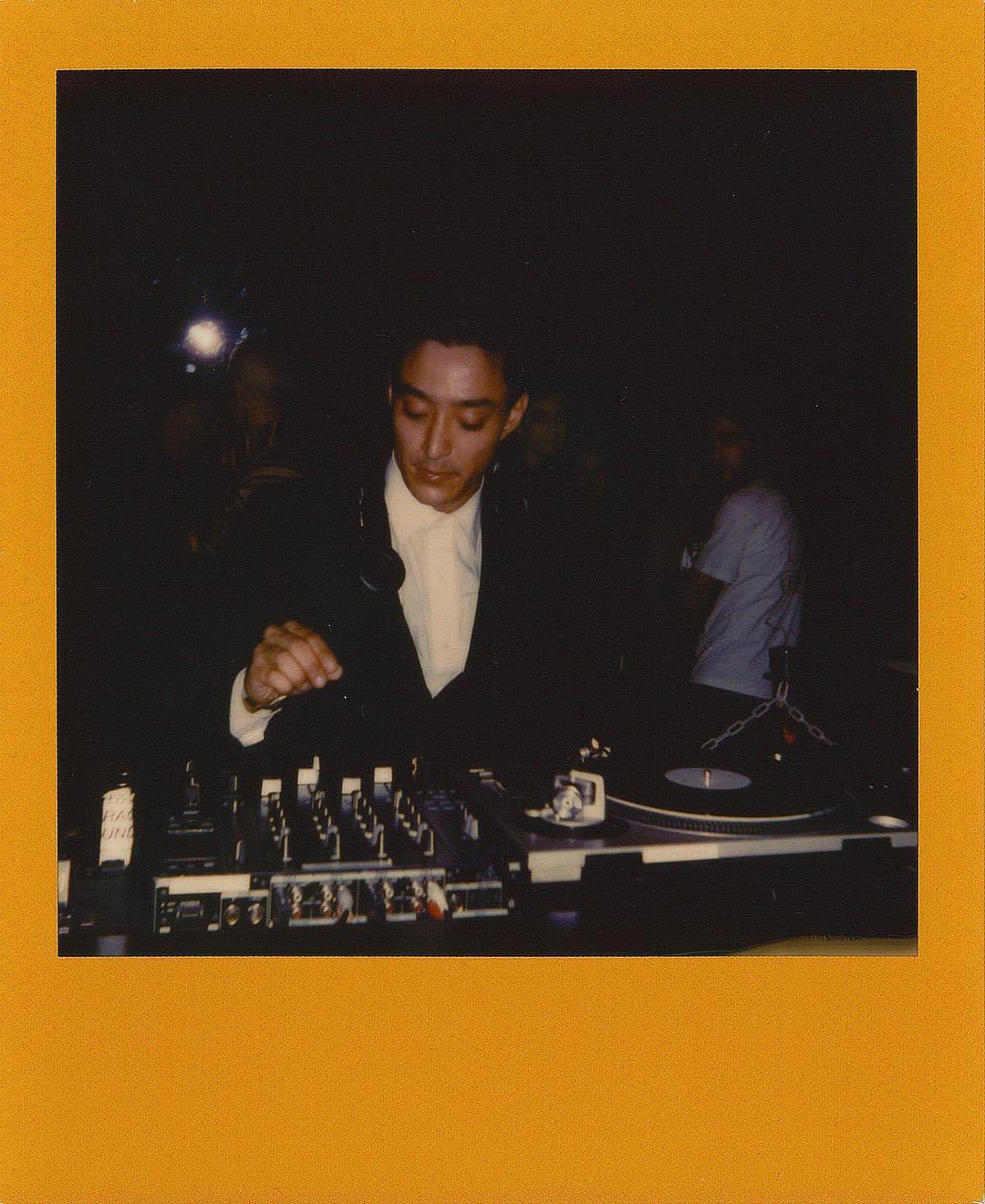"""Shigeto,  DJing at Matthew Dear's """"Bunny"""" Halloween release show , around the time we were like, """"let's make a super detailed website."""" Photo: Vinnie Massimino"""