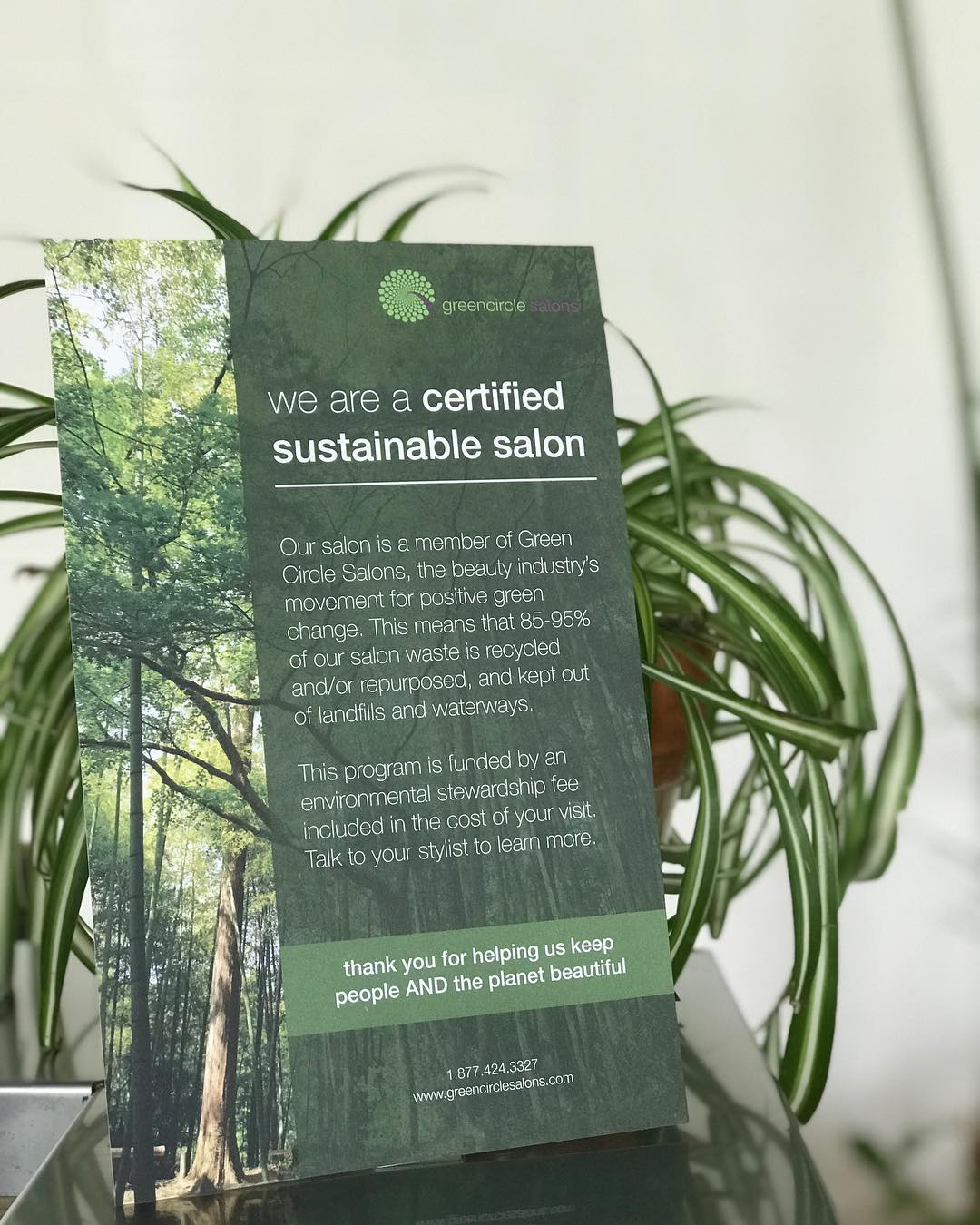 Certified Sustainable - We are proud to be members of @greencirclesalons. It is long overdue that we take ownership + responsibility for the waste our industry ensues. What does this mean? It means that we will collect on a daily basis, ANYTHING recyclable and reusable...extra hair color, foils, hair clippings and the list goes on. Once we fill a large shipping box, we then ship it to Toronto and @greencirclesalons figures out where it goes from there. Follow us as we continue to figure out ways to better the surroundings around us. Together anything is possible!