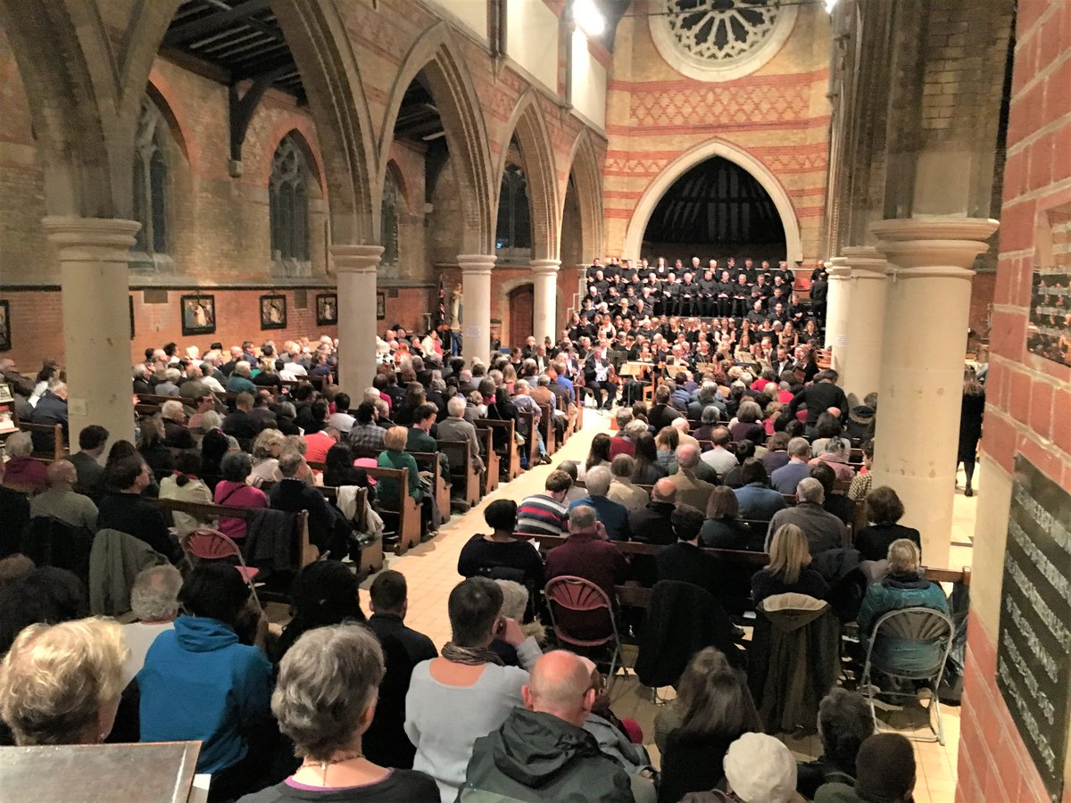 """My first concert with this lovely choir. Brandenburg Sinfonia were fabulous, wonderful soloists, particularly    @CJHewey   . Real buzz!"" (Tim Mycroft, tenor section)"