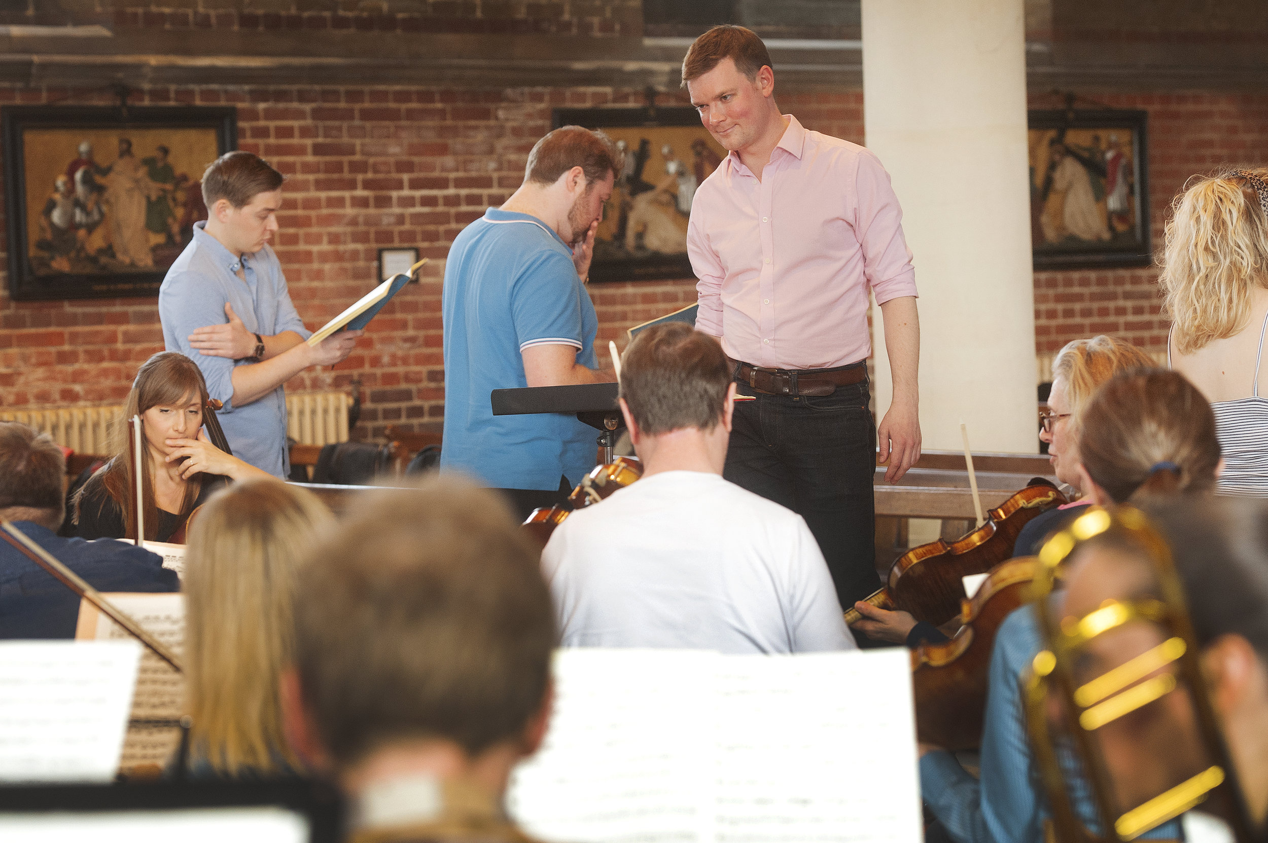 In rehearsal with the Brandenburg Sinfonia and Streatham Choral Society.