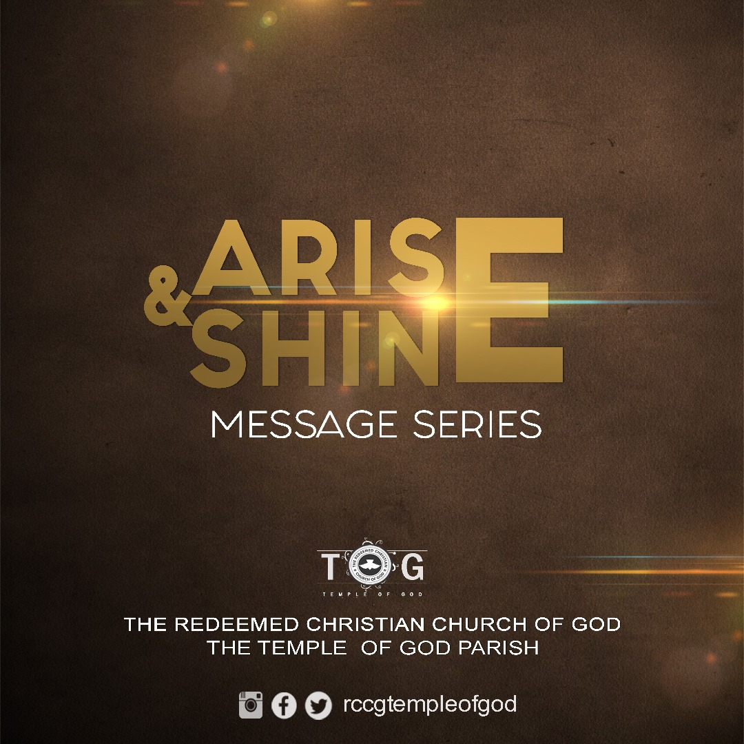 AISE AND SHINE MESSAGE SERIES - october, 2017