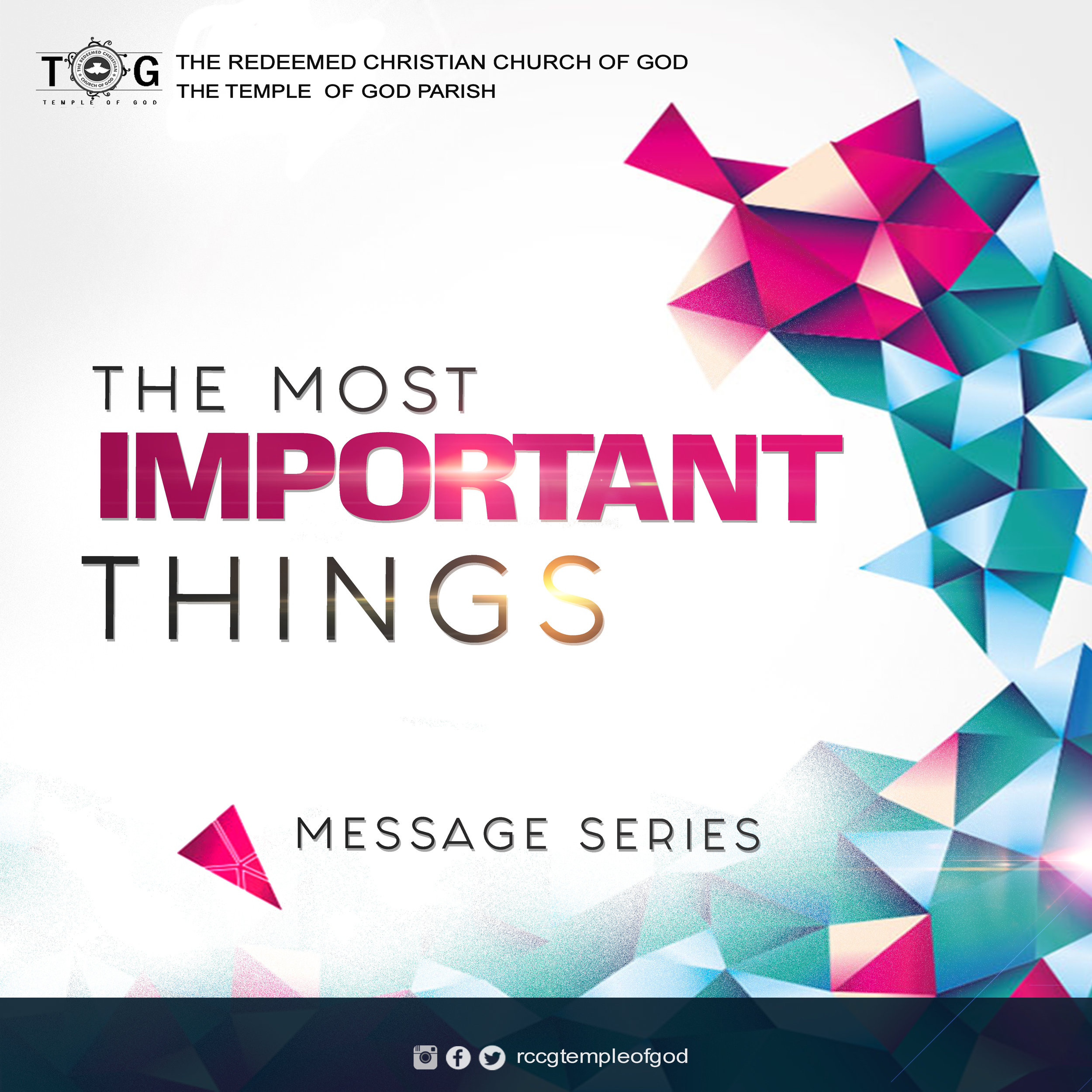 The Most Important Things - January 2018